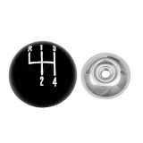 1968-1977 Chevrolet Black And Chrome Shifter Ball 5/16