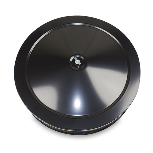 1962-1979 Chevy Nova 14 Inch Air Cleaner Assembly Black Steel Flat Base Holley