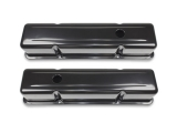 1967-1992 Chevy Camaro Small Block Black Painted Steel Valve Covers Tall Height