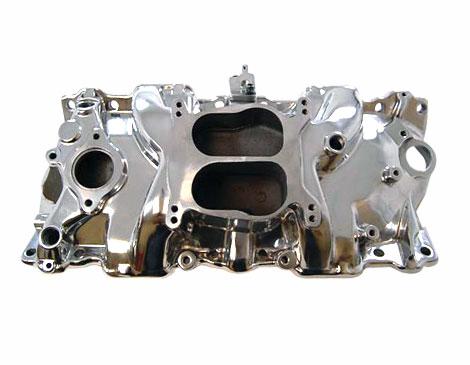 1967-1981 Chevy Camaro Small Block Spread Bore Intake Manifold, Satin Finish