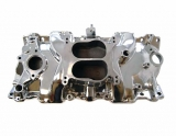 1967-1981 Chevy Camaro Small Block Spread Bore Intake Manifold, Satin Finish