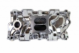 1962-1979 Chevy Nova Small Block Square Bore Intake Manifold, Satin Finish