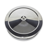 14 X 3 Chevy Chevelle Muscle Car Style Chrome Air Cleaner Set, Paper Element, Recessed Base