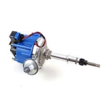 1964-1977 Chevy Chevelle Chrome Aluminum Chevelle 292 I6 HEI Electronic Distributor with 50K Coil - Blue Cap