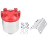 1967-1981 Chevy Camaro Large Red Top Chrome Fuel Filter With High Capacity Element
