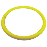 Replacement Yellow Leather Steering Wheel Wrap For 14 Steering Wheel