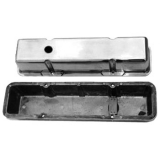 1967-1992 Chevy Camaro Small Block Polished Aluminum Valve Covers Tall Height