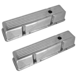1967-1992 Chevy Camaro Small Block Polished Aluminum Ball Milled Valve Covers Tall Height