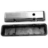 1967-1992 Chevy Camaro Small Block Polished Aluminum Ball Milled Valve Covers Stock Height