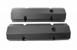 1967-1992 Chevy Camaro Small Block Fabricated Flat Top Valve Covers, Black Wrinkle