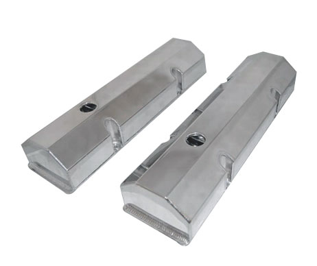 1978-1988 Chevy G-Body Small Block Fabricated Flat Top Valve Covers, Polished