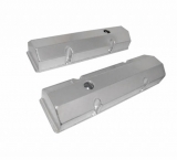 1967-1992 Chevy Camaro Small Block Fabricated Flat Top Valve Covers, Anodized