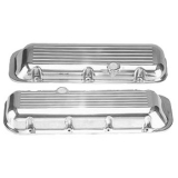 1967-1992 Chevy Camaro Big Block Polished Aluminum Ball Milled Valve Covers Stock Height