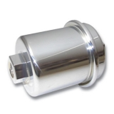 Chevy Chrome Fuel Filter With High Flow Paper Element Fuel Injection
