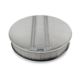 1967-1981 Chevy Camaro 14 Inch Air Cleaner Assembly Polished Aluminum Finned Drop Base
