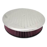 Chevy Camaro 14 Inch Air Cleaner Assembly Aluminum Ball Milled Drop Base