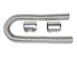 1967-1992 Chevy Camaro Chrome 24 Inch Stainless Steel Radiator Hose Kit with Polished Aluminum Caps