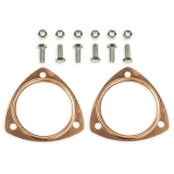 Chevy Copper Header Collector Gaskets, 3.5 Inch