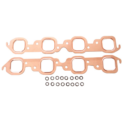 1967-1981 Chevy Camaro Big Block Copper Exhaust Manifold Gaskets, Rectangular Port