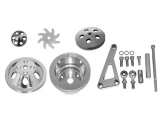 1969-1992 Chevy Camaro Small Block Single Groove Water Pump Pulley And Bracket Kit For Long Pump