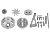 1969-1992 Chevy Camaro Small Block Double Groove Water Pump Pulley And Bracket Kit For Long Pump