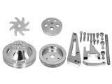 1967-1968 Chevy Camaro Big Block Double Groove Water Pump Pulley And Bracket Kit For Short Pump