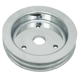 1967-1968 Chevy Camaro Big Block Crank Pulley Double Groove Polished Aluminum For Short Pump
