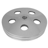 1967-1981 Chevy Camaro Billet Power Steering Pulley Double Groove Satin Finish