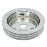 Chevy Small Block Crank Pulley Triple Groove Polished Aluminum For Short Pump