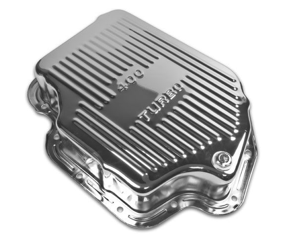 1967-1992 Chevy Camaro TH400 Chrome Finned Transmission Pan 3 Inches Deep 1.5 Extra Quarts