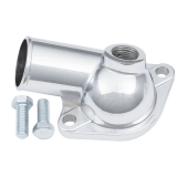 Chevy Chrome Thermostat Housing Water Neck w/ 1/2 Inch NPT Port