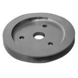 Chevy Small Block Crank Pulley Single Groove Satin Aluminum For Short Pump