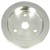 Chevy Small Block Crank Pulley Double Groove Polished Aluminum For Short Pump