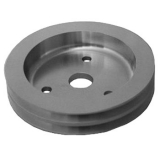Chevy Small Block Crank Pulley Double Groove Satin Aluminum For Short Pump