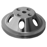 1967-1992 Chevy Camaro Small Block Satin Aluminum Water Pump Pulley Single Groove For Long Pump