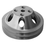 Chevy Small Block Satin Aluminum Water Pump Pulley Double Groove For Long Pump