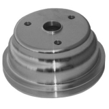 1969-1977 Chevy Chevelle Small Block Crank Pulley Double Groove Satin Aluminum For Long Pump