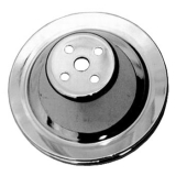 1967-1968 Chevy Camaro Small Block Chrome Water Pump Pulley Single Groove For Short Pump