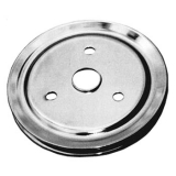 Chevy Small Block Crank Pulley Single Groove Chrome Plated Steel For Short Pump