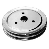 Chevy Small Block Crank Pulley Double Groove Chrome Plated Steel For Short Pump