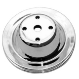 1969-1992 Chevy Camaro Small Block Chrome Water Pump Pulley Single Groove For Long Pump