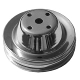 Chevy Small Block Chrome Water Pump Pulley Double Groove For Long Pump