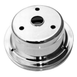 Chevy Small Block Crank Pulley Single Groove Chrome Plated Steel For Long Pump
