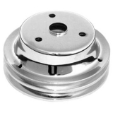 1969-1992 Chevy Camaro Small Block Crank Pulley Double Groove Chrome Plated Steel For Long Pump