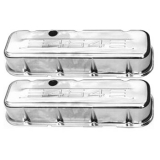 1967-1992 Chevy Camaro Big Block Chrome Valve Covers 454 Logo Tall Height