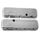 1967-1992 Chevy Camaro Big Block Chrome Valve Covers 454 Logo Stock Height