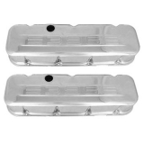 1967-1992 Chevy Camaro Big Block Chrome Valve Covers 396 Logo Tall Height