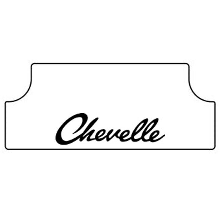 1968-72 Chevelle Trunk Rubber Floor Mat - Chevelle Script: GMA 6872C-TRFM-G-015