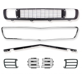 1969 Camaro Rally Sport Complete Grille Kit with Headlight Doors