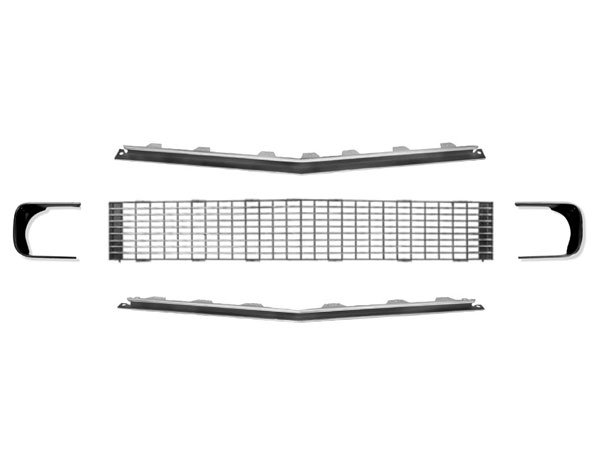 1967-1968 Camaro Rally Sport Grille Kit With Trim
